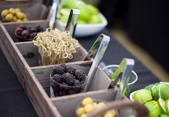 custom bar catering garnishes